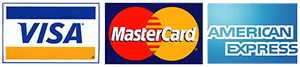 visa mastercard amex - cards we accept