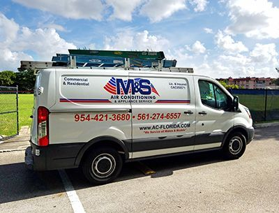 Work Truck - M&S Air Conditioning & Appliance Services Deerfield Beach FL