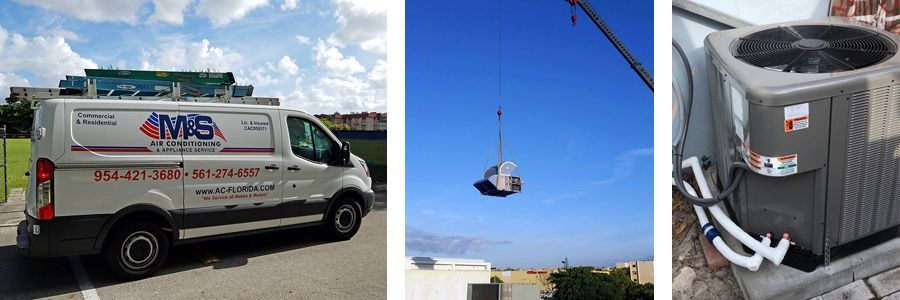 M&S Air Conditioning & Appliance Services - truck, rooftop unit and ac system